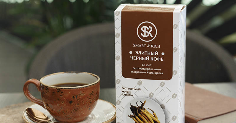 Черный кофе с Кордицепсом