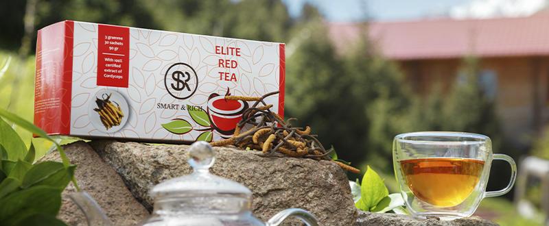 Красный чай с Кордицепсом